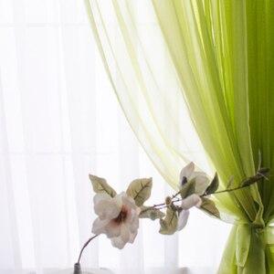 Image 2 - 現代チュールカーテンリビングルームキッチン白の寝室のカーテン薄手のカーテン窓子供ロマンチックなボイルブルー黒