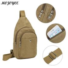 6ce29a45719 Men's Shoulder Bag Man Fashion Messenger Casual Travel Chest Bag Canvas  Crossbody Back Pack Multifunction Small