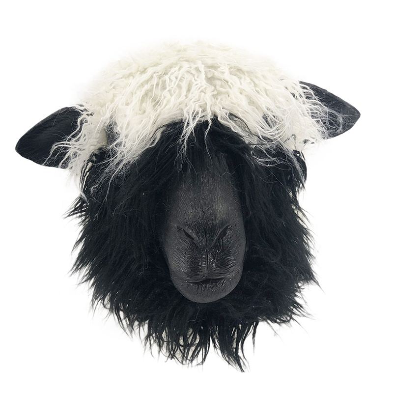 Poodle Mens Adult Animal White Moving Jaw Costume Accessory Mask