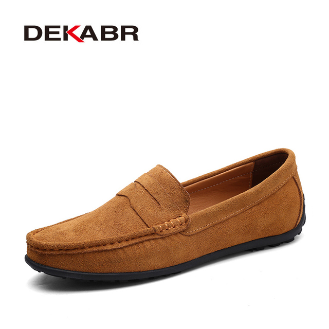0c50889d73898 US $8.48 49% OFF DEKABR Brand Fashion Summer Style Soft Moccasins Men  Loafers High Quality Genuine Leather Shoes Men Flats Gommino Driving  Shoes-in ...