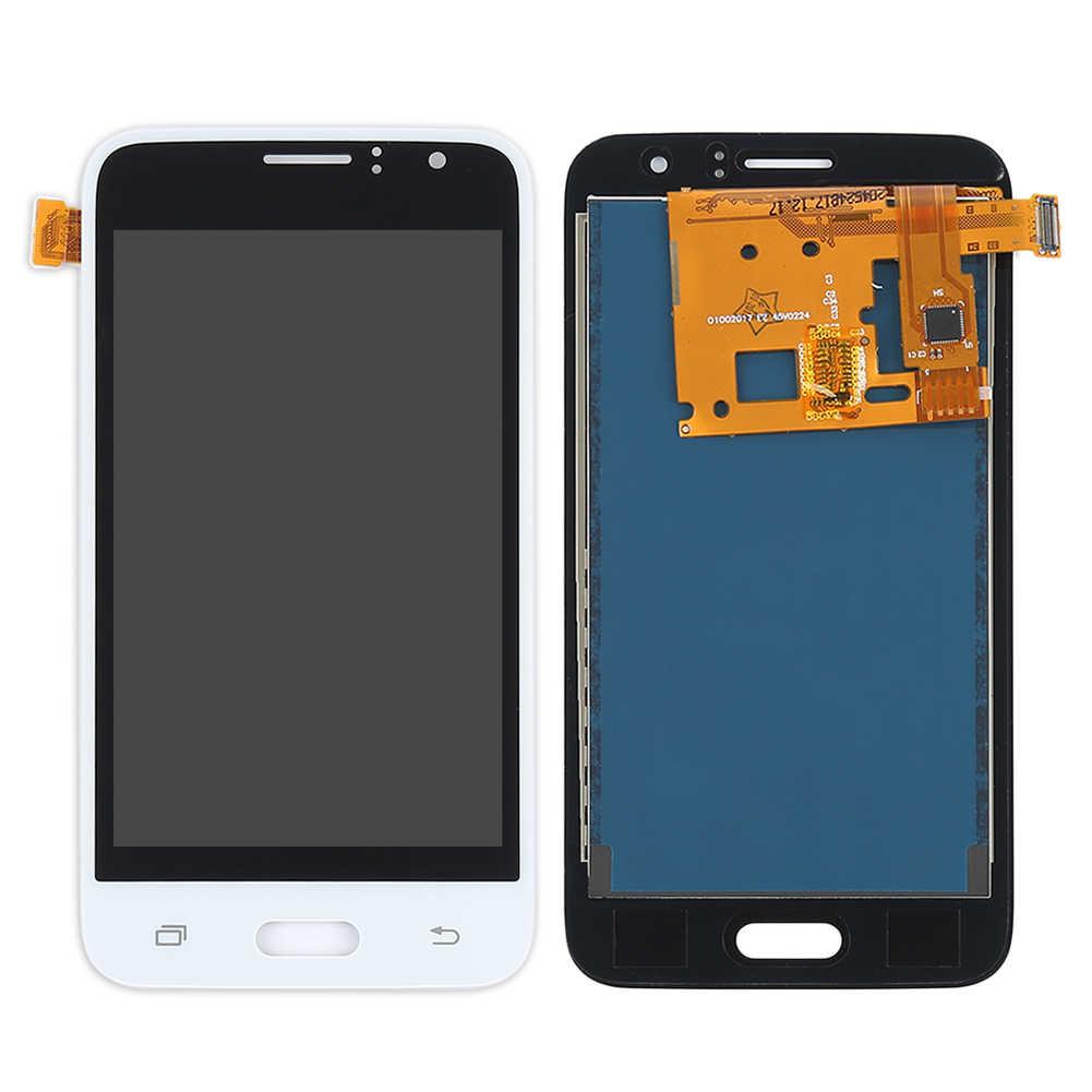 J120F شاشات lcd لسامسونج غالاكسي J1 2016 عرض J120 J120M J120F J120H شاشة الكريستال السائل محول الأرقام بشاشة تعمل بلمس لسامسونج J1 2016 LCD