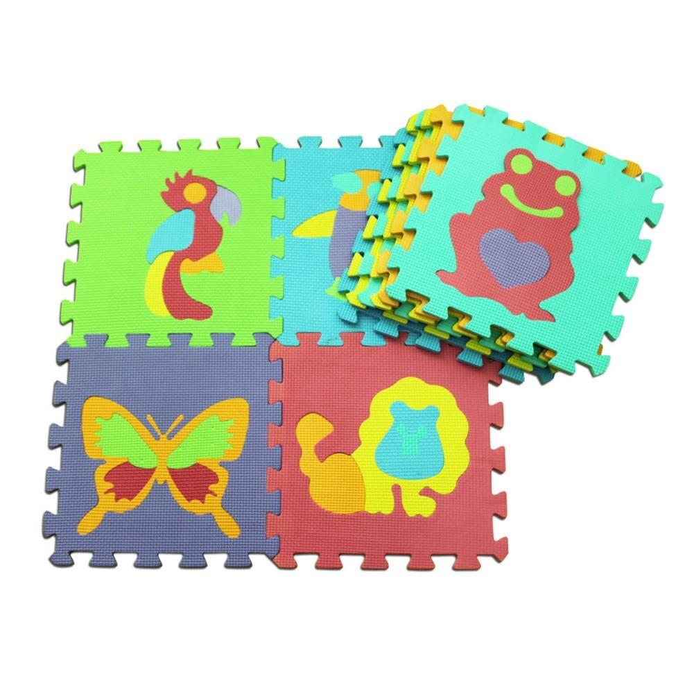 10 Pcs Animal Pattern Foam Puzzle Kids Carpet Eva Baby