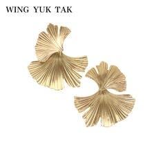 Женские серьги пусеты wing yuk tak Винтажные золотого цвета