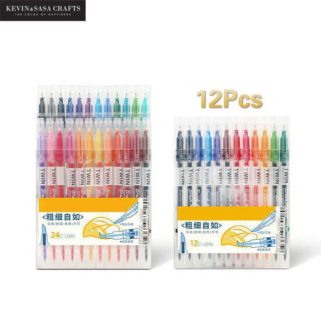 Online Shop 12colors Set Maker Pens Painting Soft Brush Pen Set