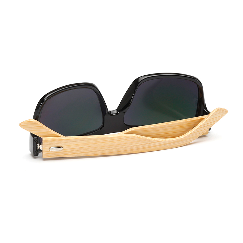 GYsnail 2018 Fashion Square Bamboo Wood Sunglasses Men Vintage Wooden Sun Glasses 100% UV400 for Driving Fishing Oculos De Sol