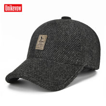 UNIKEVOW New arrivel Sport winter baseball caps with ears Casual winter hat  warm caps for men golf hat d53214d9da7
