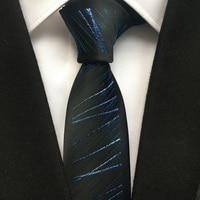 2017 Luxo 100% Microfibra Gravata 5.5 cm Formal Gravata Azul Marinho com Homens na Caixa de Presente para Presente de Aniversário