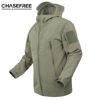 TAD Outdoors Brand V4 0 Military Tactical Jacket Men High Quality Lurker Shark Skin Soft