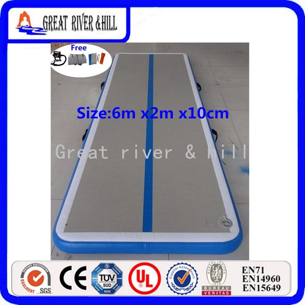 Floding надувные sealed air гимнастика коврик для тренировок спортивные (серо-голубой)