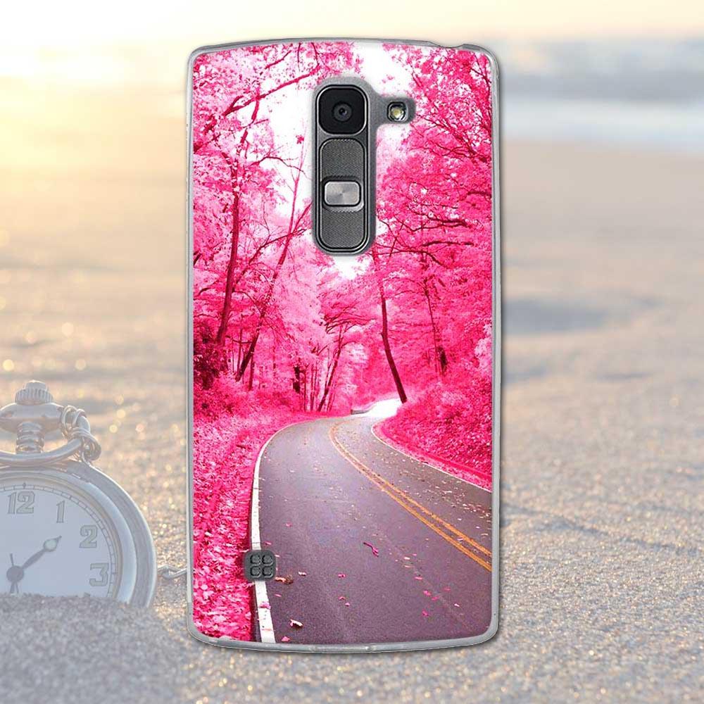 Fundas telefon case pokrywa dla lg spirit 4g lte h440y h422 h440n h420 miękka tpu kwiaty zwierzęta dekoracje telefon pokrywa dla lg duch 25