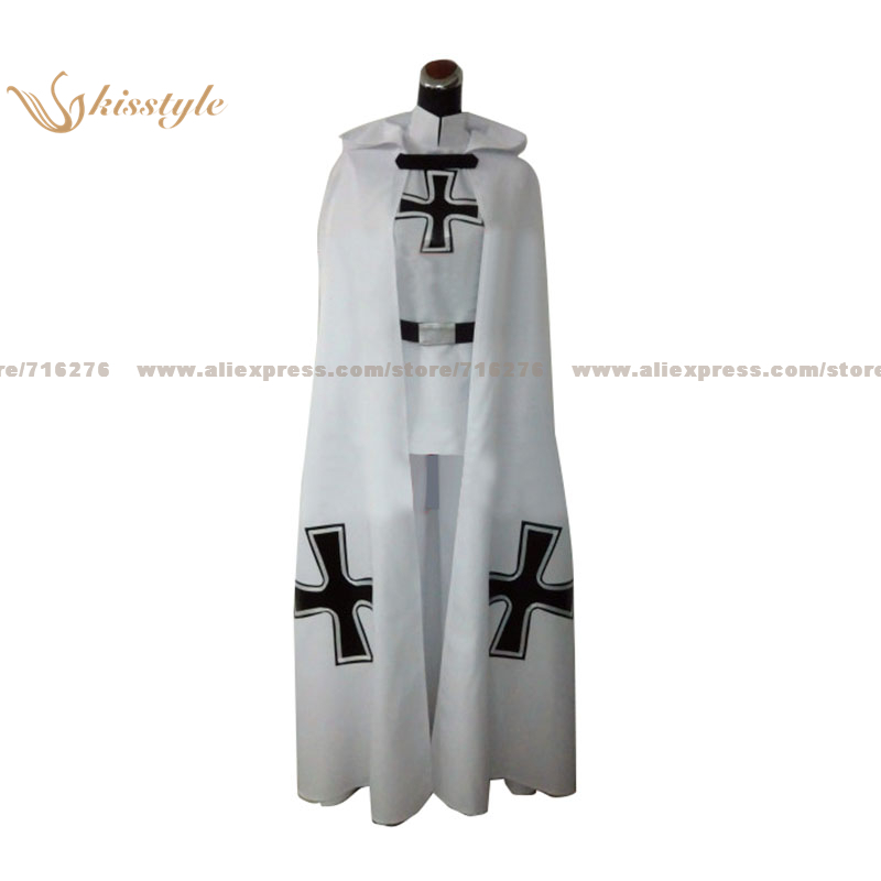 Kisstyle Fashion APH Hetalia: Axis Powers Prussia Gilbert Knight Uniform COS Clothing Cosplay Costume,Customized Accepted