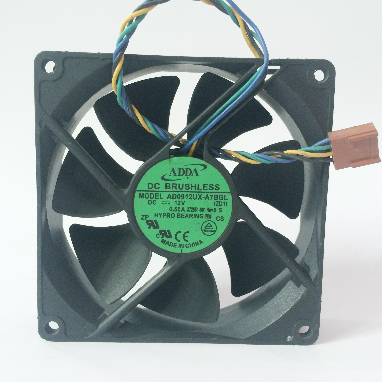 ADDA AD0912UX-A7BGL DC 12V 0.33A chassis server inverter cooling cooler fan