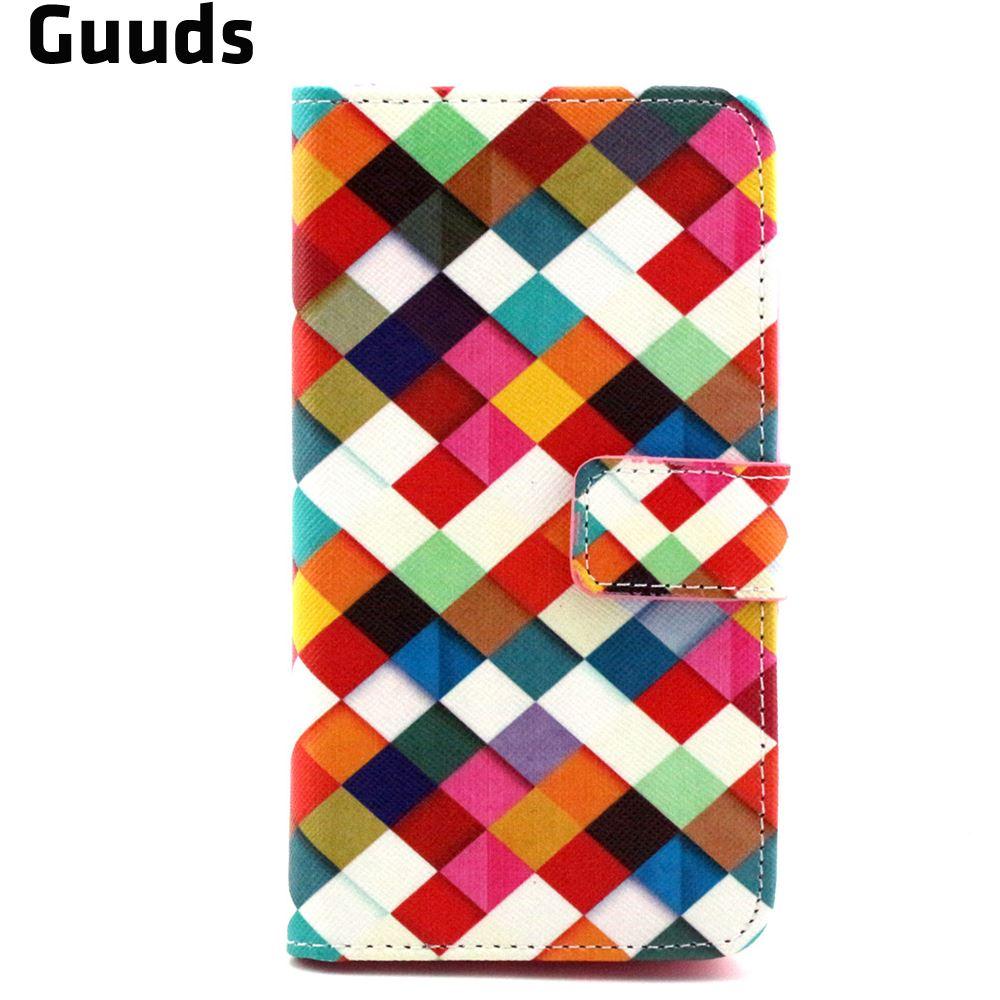 ᗕДля Lumia 535 <b>чехол</b> Цвет плед кожаный бумажник <b>чехол</b> для ...