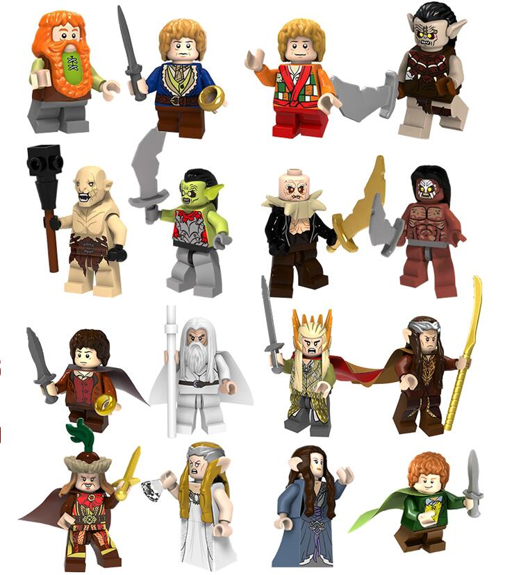 Toys & Hobbies 50pcs The Lord Of The Rings Azog Bilbo Strong Orc Building Blocks Bricks Collection Figure Friends For Games Kids Children Toys To Assure Years Of Trouble-Free Service