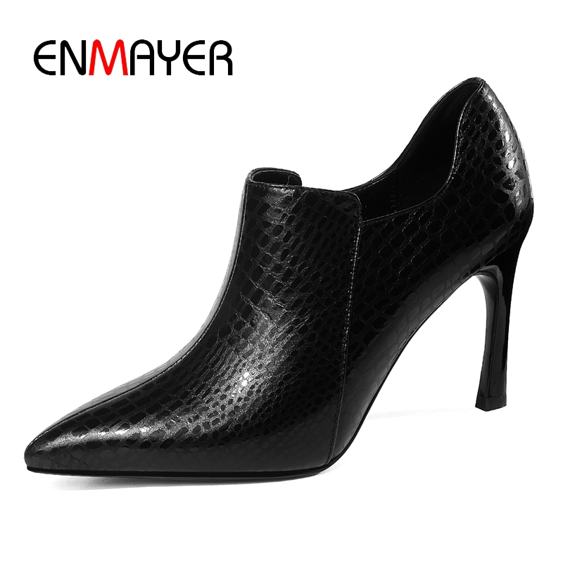 ENMAYER Boots women pointed toe ankle boots women high heel boots women fashion zipper boots Size 34-39ZYL962ENMAYER Boots women pointed toe ankle boots women high heel boots women fashion zipper boots Size 34-39ZYL962