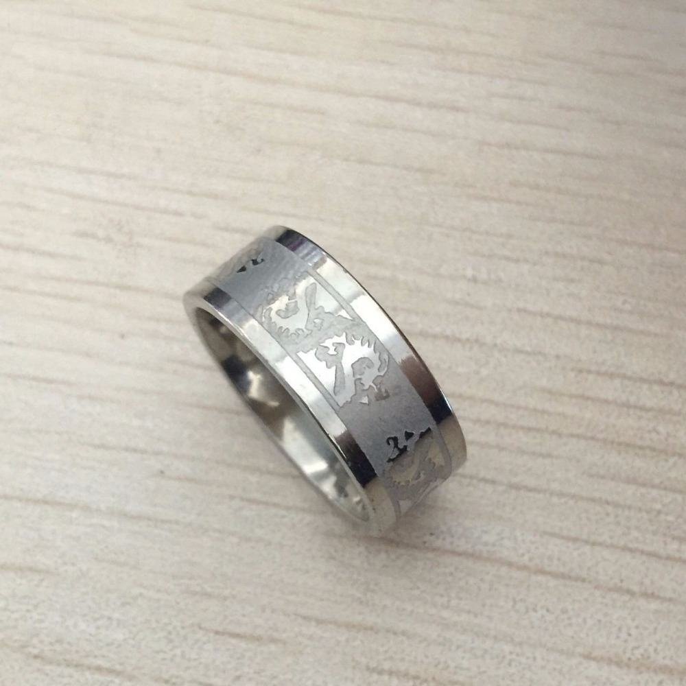 8mm silvering dragon tungsten carbide ring mens wedding band jewelry wholesale pricechina mainland - Cheap Wedding Ring