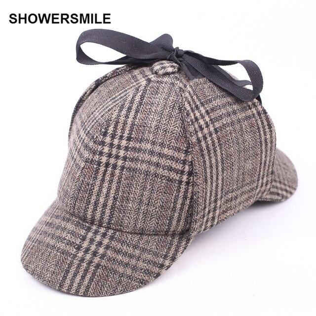 Sherlock Holmes CHUVEIROS Boinas de Lã Chapéu de Inverno Unissex Para  Homens Deerstalker Cap Acessórios Chapéu e933d73d669