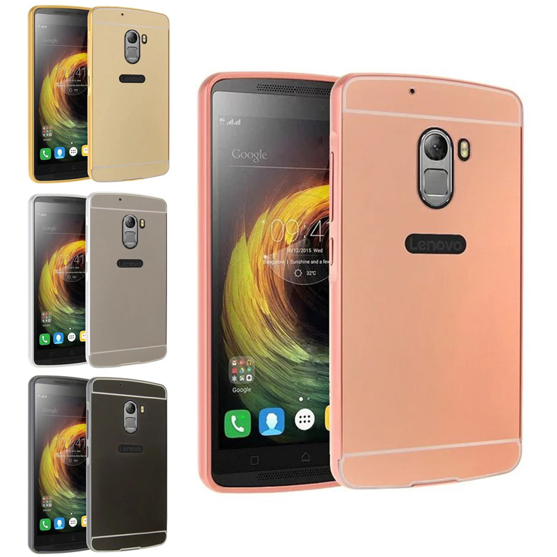 Lenovo K 4 Note A7010 A 7010 Case Plating Metal Frame with Mirror Back Cover Case for Lenovo Vibe X3 lite Lenovo A7010 K4 Note