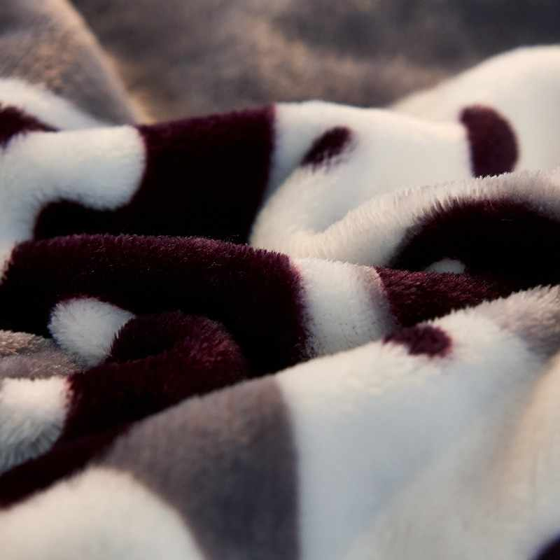 2018 Chấm Bi Đáng Yêu Chó In Chăn Mềm Mại Ném Plaids Vi Sợi Nỉ mặc Vải Đôi Toàn Hoàng Hậu Kích Thước Tấm Thảm