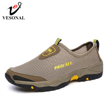 US $16.67 40% OFF|VESONAL 2019 Summer Breathable Mesh Shoe Sneakers For Men Shoes Out door Wading Water Slip on Male Shoes Loafers Casual Walking-in Men's Casual Shoes from Shoes on Aliexpress.com | Alibaba Group