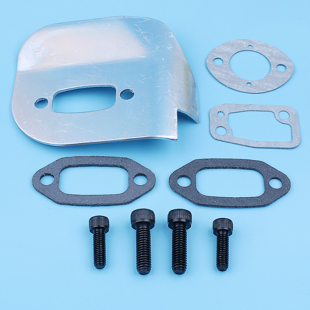 Muffler Exhaust Gaskets Deflector Bolt Kit For Jonsered 625 630 670 Champ Chainsaw Replacement Spare Part 503519901