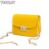 Fashion Designer Leather Handbag Chain Shoulder Bags Women Messenger Bags 2016 Female Small Hand Bag Mini
