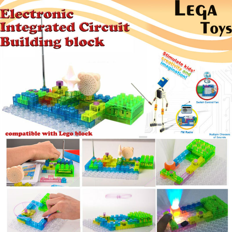 Electronic Blocks DIY Kits Integrated circuit building blocks snap circuit model kits Science kids toys 120/115/59 Projects купить