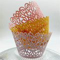 120pcs Creative Lace Laser Hollow Cupcake Paper Cups Round For Cupcake DIY Baking Fondant Muffin Cake Cup Moulds Wedding Supply