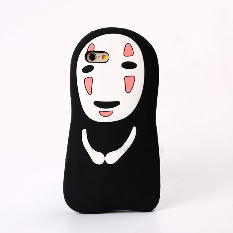 "3D Cartoon Spirited Away No Face Male soft silicone case For iPhone8 5s SE 6s 7 plus 5.5"" Ghost Rubber Cover Phone cases"