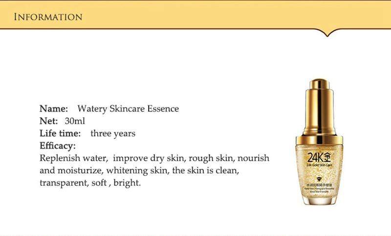 24 k BIOAQUA 24K Gold Face Cream Whitening Moisturizing 24 K Gold Day Creams & Moisturizers 24K Gold Essence Serum New Face Skin Care06