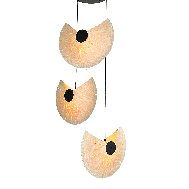 Southeast Asia Chinese Style Wooden veneer pendant Lights Living Room Restaurant Lamp Dining Room hanging Lights chinese style classical wooden sheepskin pendant light living room lights bedroom lamp restaurant lamp restaurant lights