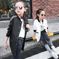 In the autumn of 2016 new girls Windbreaker Jacket Large virgin baby long cardigan in casual baseball uniform free shipping