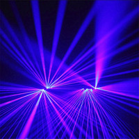 KS68 Party ballroom dance laser gloves purple blue light beams rechargeable dj gloves disco wear luminous light stage costumes
