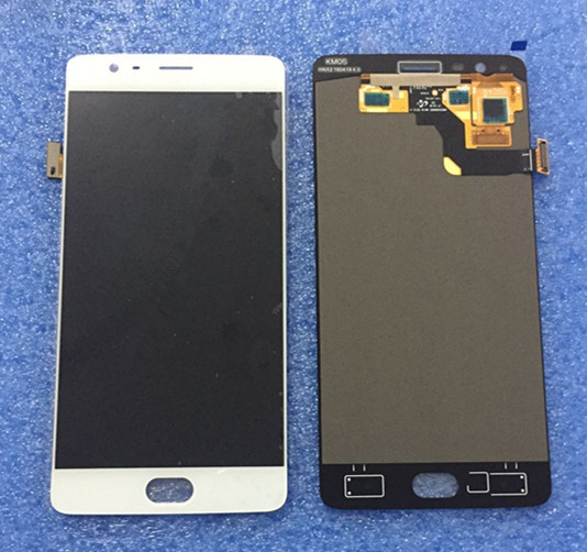 LCD screen display+touch panel digitizer For oneplus three oneplus 3 A3000 A3003 EU version white/black free shipping
