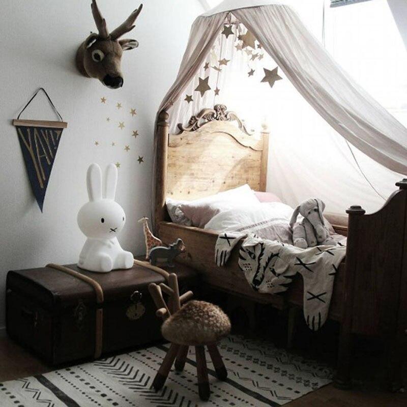 Детская кровать Шторы Детская комната украшения Сетки для колыбелей хлопок детские hung купол Детские Сетки от комаров Подставки для фотогра...