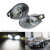 ANGRONG 45W Updated White LED Front Bumper Fog Light Lamp For VW Passat 3C B6 06 10 L&R