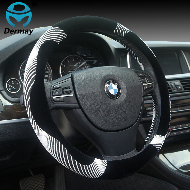 2017 New Arrival 5Colors Car Steering Wheel Cover line shape Personalise Flannelette Size 38cm For 98% Cars new arrival 4colors car steering wheel cover leather size 38cm for vw skoda chevrolet ford nissan etc 95% cars styling covers