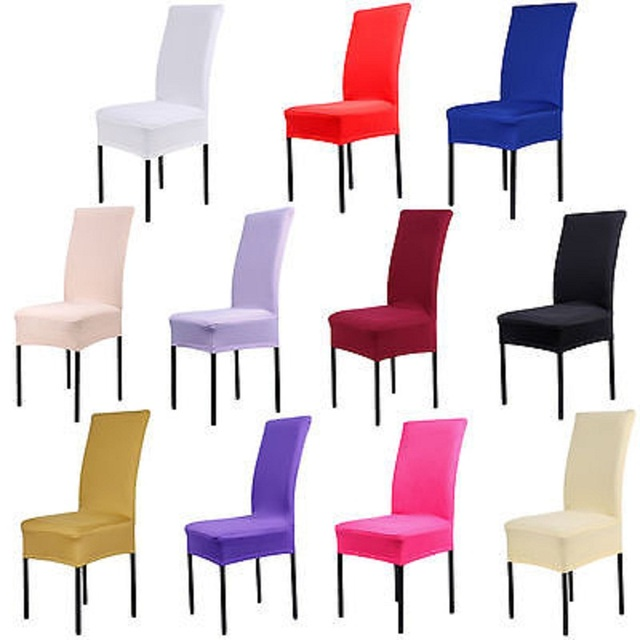 Dining Chair Covers Spandex Strech Dining Room Chair Protector ...