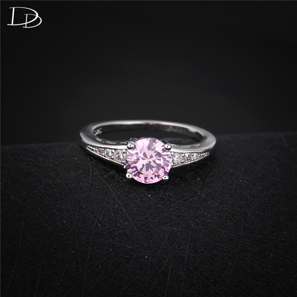 Nette rosafarbene österreichische Kristallringe für Frauen 925 - Modeschmuck - Foto 2