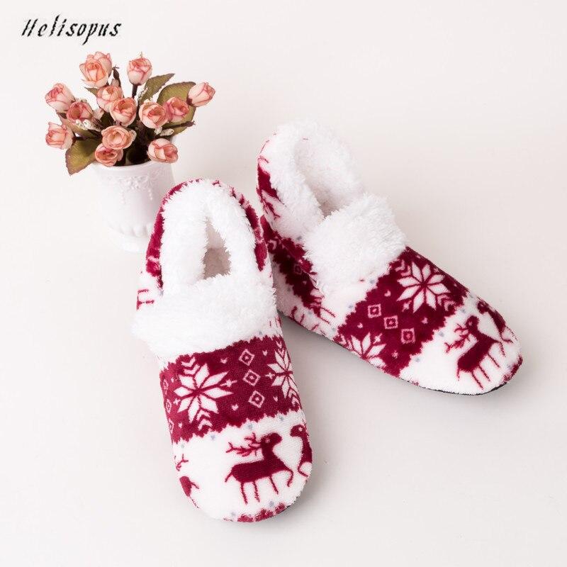 Helisopus 2019 New Fashion Women Winter Warm Socks Girls Bedroom Floor Sock Christmas Gift Adult Non-slip Thermal Socks Slippers