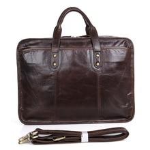 JMD 100% Vollrindleder Aktentaschen Top Griff Laptop-tasche männer Handtasche 7345C