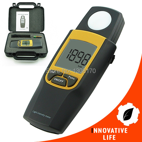 Digital Light Intensity Meter Lux & Foot Candle FTC Max Min Hold Over Range Indication Light Meter professional digital lux meter 0 1 200 000lux lcd lux fc light intensity tester data hold peak reading hold accuracy 0 1lux