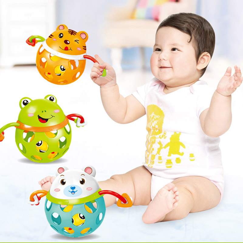 Cute Baby Rattle Animal Frog Tiger Ball Teether Infants Toy Best Baby Toys-40