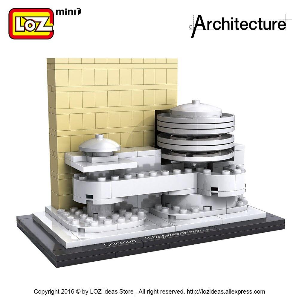 LOZ идеялары Mini Block Guggenheim мұражайы - Дизайнерлер мен құрылыс ойыншықтары - фото 4