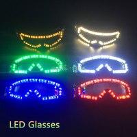 Toptan vurdu led gözlük Rave Paskalya Cadılar Bayramı Doğum Günü Için 6 renkler mevcut el led gözlük DJ/Bar Dance Party dekorasyon