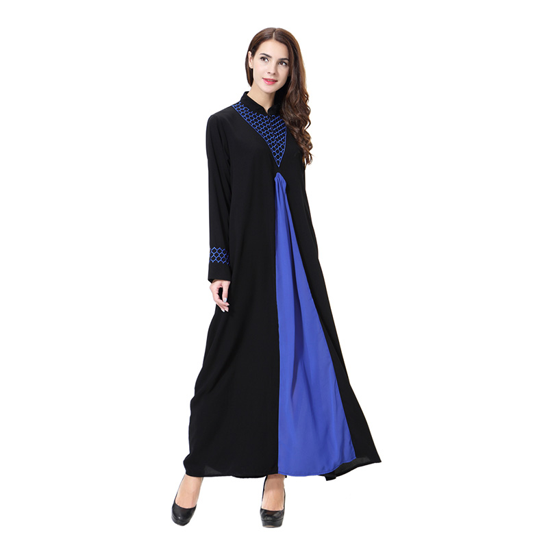 Robe musulmane femmes vêtement Robe Patchwork dames moyen-orient arabe longues robes chemises formelles Robe décontracté pour les musulmans N30D