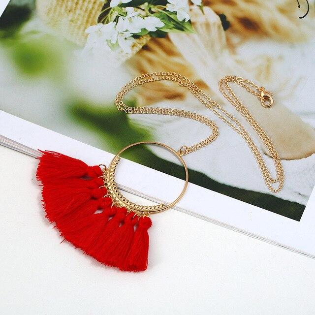 Ожерелье с кисточками naomy & zp женское длинное ожерелье бахромой
