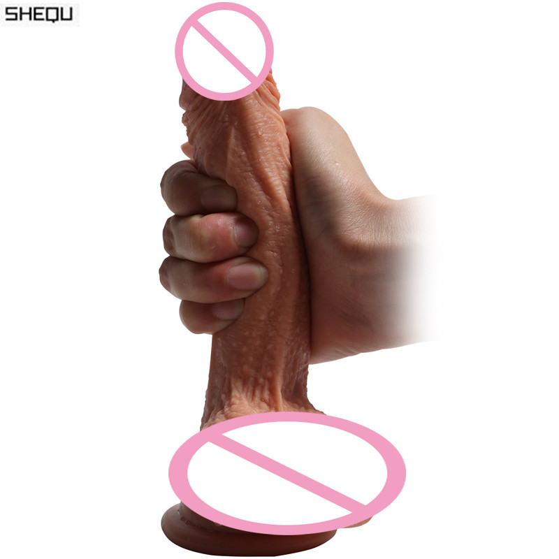Sex Shop Hot Super Soft Double Silicone Dildo Realistic Suction Cup Male Artificial Penis Dick Woman Masturbator Adult Sex Toys hot silicone vibration dildo realistic suction cup dildo male artificial penis dick female masturbator adult sex toys for woman