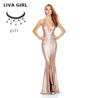 TOP Quality Sexy Fashion Backless Silver Bronzing Tassel Floor Length Long Bandage Dress 2017 Ladies Designer