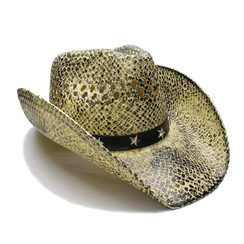 Women Men Western Sun Hat With 2019 Band Handmade Weave Lady Gentleman Beach Sombrero Cowboy Hat Size 58cm A0081 Buy Now Men's Sun Hats